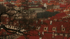 Close-up Tilting Shot of Prague Old Town Stock Footage