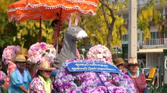 Thai New Year parade Stock Footage