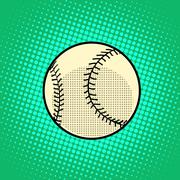 Baseball Ball pop art retro style Stock Illustration