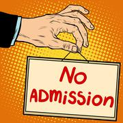 Hand sign no admission Stock Illustration