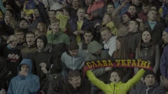 Sing the fans supporting their team Stock Footage