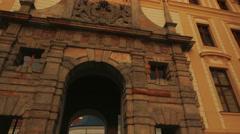 Entering the Prague Castle-POV Walking Shot - stock footage