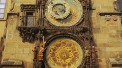 Close-up Shot of the Astronomical Clock in Prague - stock footage