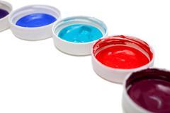 Colorful acrylic paints - stock photo