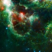 Beautiful Space nebula - stock illustration