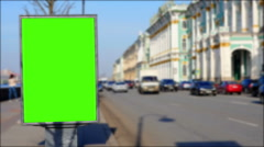 Billboard chromakey. St Petersburg. Russia. timelapse - stock footage