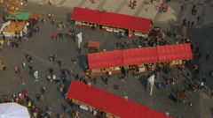 Aerial Shot of Prague Old Town Square on a Sunny Day Stock Footage