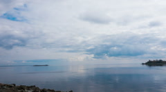 Clouds over the Gulf of Finland. timelapse Stock Footage