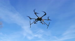 flight of esacopter  copter - stock footage
