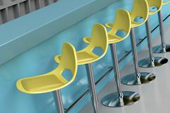Stools in bar Stock Illustration