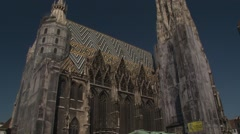 Sain t Stephan's Cathedral (Stephansdom) Stock Footage