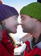 Eskimo kiss - stock photo