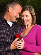 Man proposing to woman Stock Photos