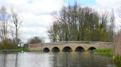 Lake at Five Arch bridge Stock Footage