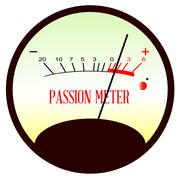 Red Hot Passion Meter - stock illustration