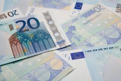 Twenty euro notes - stock photo
