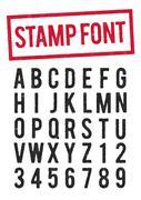 Stamp typeface Stock Illustration