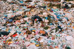 Junkyard Of Domestic Garbage In Landfill Stock Photos
