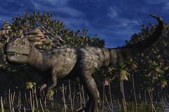Allosaurus - stock illustration