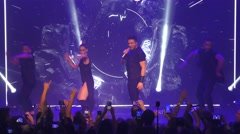 Sergey Lazarev from Russia performs the song You Are The Only One Stock Footage