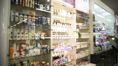 Drugstore,cosmetics and healthcare interior - stock footage