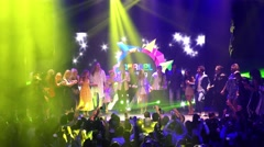 Singers of Eurovision promo party after the event Stock Footage