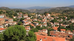 Beautiful mountain village of Sirince Stock Footage