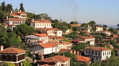 Sirince Houses, Selcuk. Izmir, Turkey. Most of the houses offer a large view Stock Footage