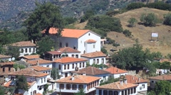 Typical village house in Anatolia. Architecture in Sirince  Stock Footage