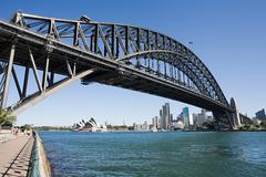 Sydney opera house and sydney harbour bridge Kuvituskuvat