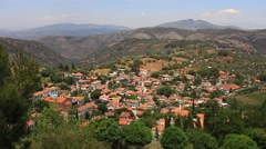 Sirince village, Panoramic view Stock Footage