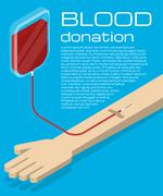 Blood donation illustration Stock Illustration