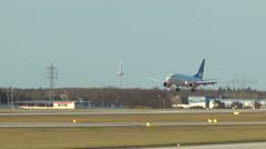 Landing airplane of Scandinavian airline SAS Arkistovideo