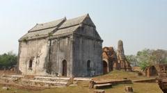 Wat Phra Sri Rattana Mahathat Ruin Lop Buri Building - stock footage