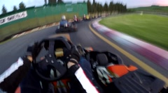 Go kart on board camera race Stock Footage