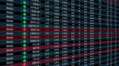 Growing and falling stock market indices, financial crisis, economic forecast - stock footage