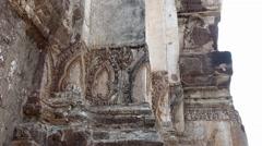 Wat Phra Sri Rattana Mahathat Ruin Lop Buri Details - stock footage