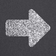 Asphalt road arrow symbol Stock Illustration