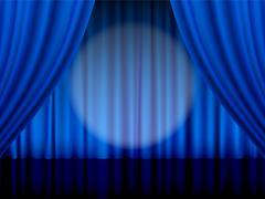 Theater curtain - stock illustration
