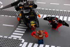 Lego Batman in Batcopter, Nightwing and Man-Bat Kuvituskuvat