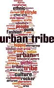 Stock Illustration of Urban tribe word cloud