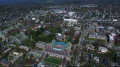Aerial View Of Buildings In Princeton New Jersey Stock Footage