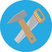 Icon saw hammer Stock Illustration