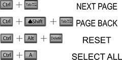Set of combination button keyboard Stock Illustration