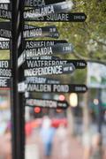 Signpost in portland - stock photo
