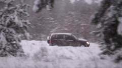 Road During Snowfall - stock footage