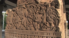 Stone carving and columns in downtown Colombo, Sri Lanka. Stock Footage