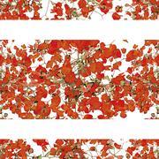 Vivid Floral Collage Pattern Stock Illustration