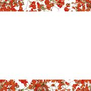 Vivid Floral Collage Pattern - stock illustration