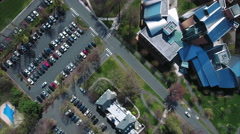 Overhead View Of Lewis Library On Princeton University Campus Stock Footage